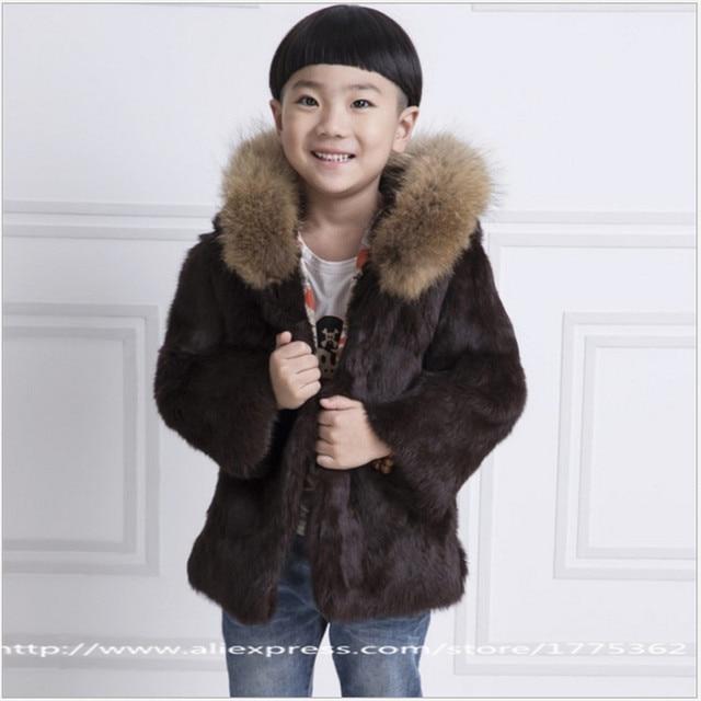d581de43a0df 2017 Fashion Rabbit Fur Coat Children Boys Hooded Warm Jacket Coat ...