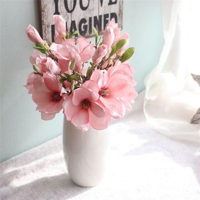 Kunstmatige Magnolia Zijde Bloem Tak Nep Bloem Fleur Artificielle