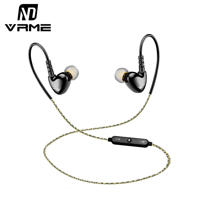 Vrme Earphone Wireless Bluetooth Headset Sport Earbuds Stereo Headphones Build-in Mic Handsfree  For Xiaomi iPhone 6 Samsung HTC hlton portable wireless bluetooth earphone handsfree mini headset stereo earbuds car fast charger with mic for smartphone pc