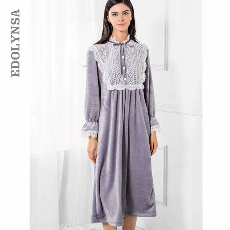 49dc9fcc8d Detail Feedback Questions about Victorian Velvet Nightgown Winter ...