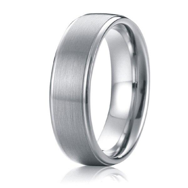Ne jamais se faner personnalisé tailleur mode hommes bijoux 6mm titane bandes de mariage promesse anniversaire anneaux grande taille 5 à 15