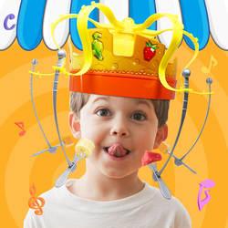 Корона пищевой hat вечерние игрушки fun пародия Корона аккуратные шляпа едят пародия шляпу детей вечерние игрушки