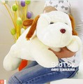 70 cm plush lovely dog toy sleeping dog with brown ears doll throw pillow gift w4164