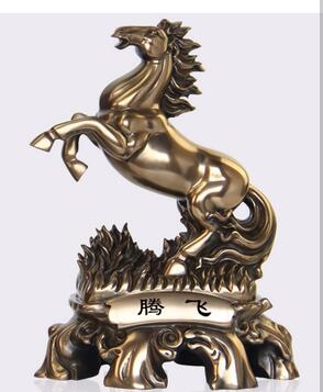 animal sculpture garden statue home Horse Ware crafts living room Porch home decoration inviting money Front tabletop Offic