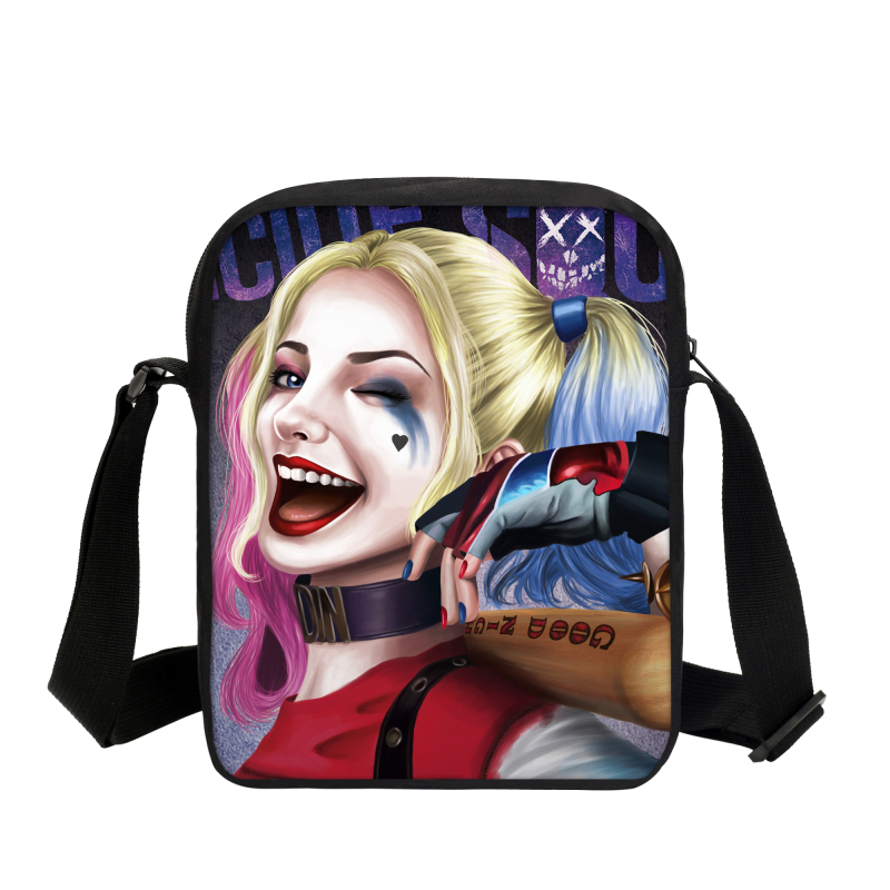 2017 New Harley Quinn Printing Shoulder Bag Funny Joker Messenger Bags For Teenage Girl Casual Women Crossbody Bag Suicide Squad