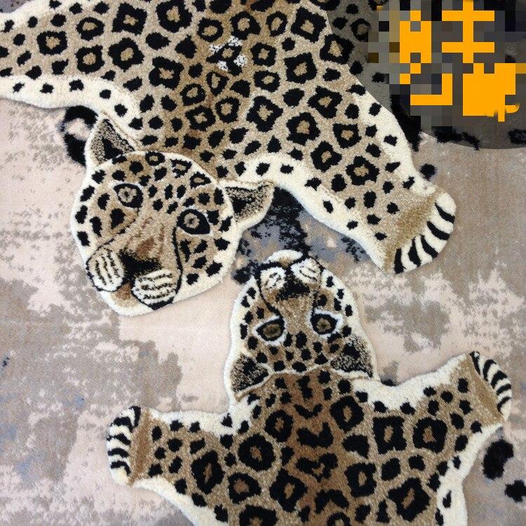 Tapis et tapis pour la maison salon alfombras para la sala moderna motif animal tigre tapis en laine fait main