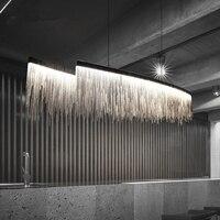 Современная трехуровневая световая люстра с кисточками в скандинавском стиле, роскошное освещение для отелей, цепочка для гостиной, художе
