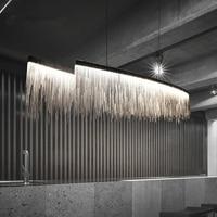 Modern Three Grades Light Intensity Tassel Chandelier Nordic restaurant luxury hotel engineering chain living room art lighting