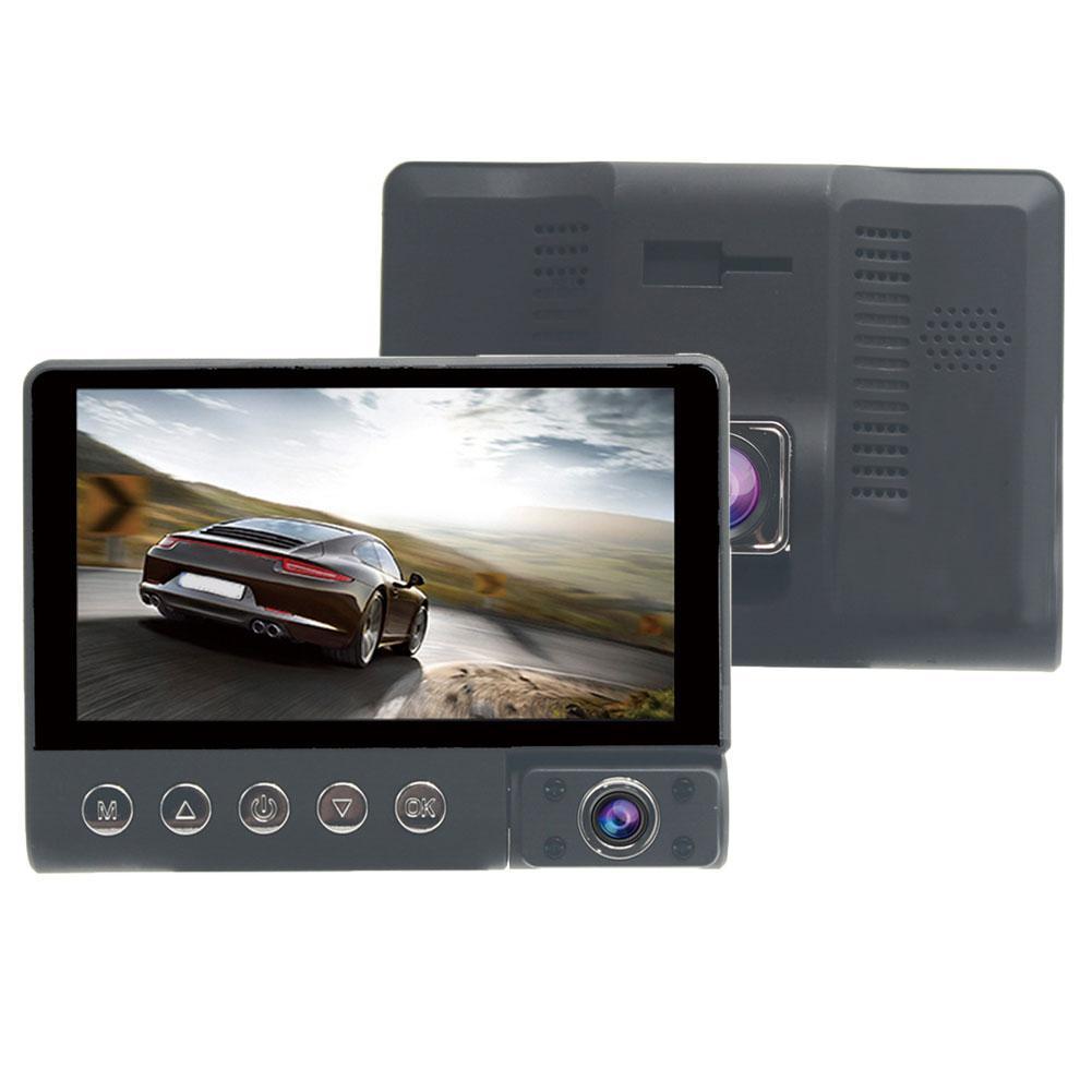 1080P HD 3 Lens Wide Angle Night Vision Car DVR Dash Cam Camera Video Recorder