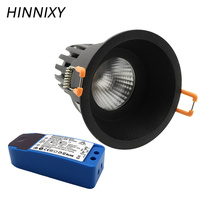 Hinnixy LED Anti dazzling Downlights Dimmable Spot Lamp For Bedroom Fixtures 75mm Cut Hole 5W 10W 15W Replaceable Light Source