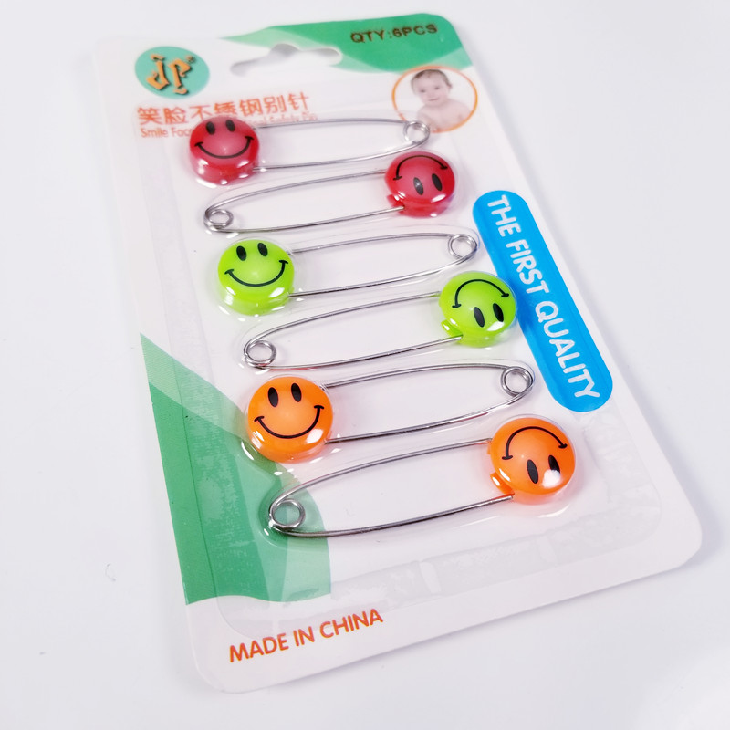 1set Smiling Face Stainless Steel Safety Pins for DIY Sewing Tools Finding Accessory Apparel Accessories