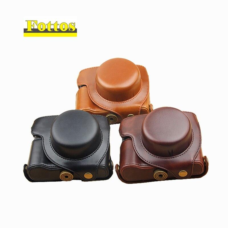 High Quality Leather Camera Bag Case for Panasonic LUMIX LX100 DMC-LX100 Camera protective cover картридж lx100 k 60 2 black