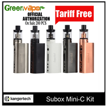 Eบุหรี่อิเล็กทรอนิกส์Kanger Suboxมินิ-C Starter Kit 50วัตต์สมัยVapeกับ3มิลลิลิตรProtank5เครื่องฉีดน้ำ0.5ohm SSOCC Kangertech Vaporizer