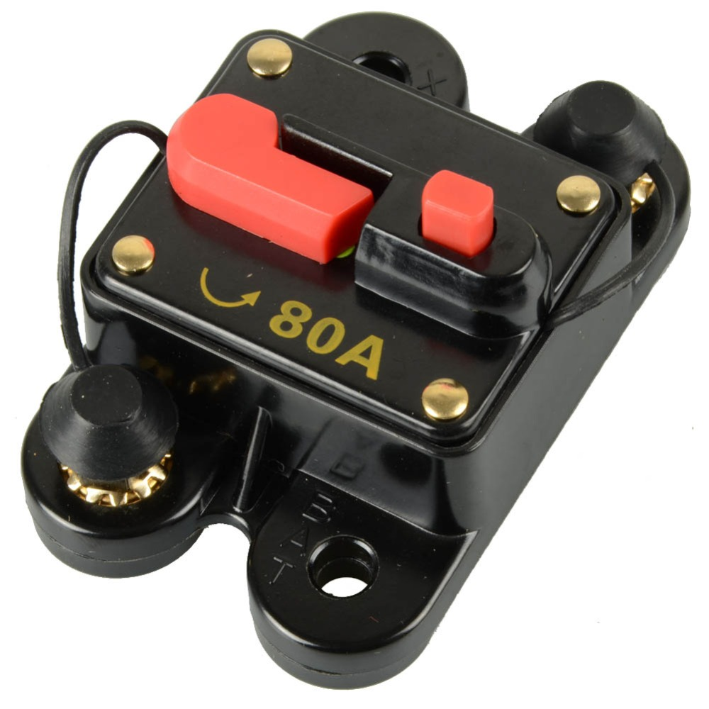 Car audio circular switch 12V-24V DC Home Solar System Waterproof Circuit Breaker Reset Fuse Inverter