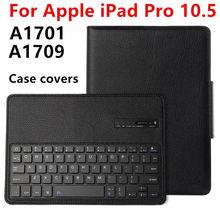 Para el ipad de Apple Pro 10.5 Nuevo 2017 Protectora Bluetooth Wireless keyboard cubierta Elegante de la Tableta Para iPad10.5 pro10.5 Cuero de LA PU