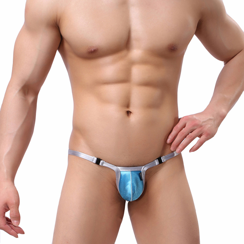 KWAN.Z Gay Underwear Thong Men Jockstrap Low Waist Men Sexy Mini-convex Underwear G-string Homme Free Buckle Men Thong Underwear