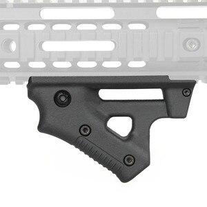 Image 2 - Taktische CS spiel Dreieck kampf Grip Nylon Daumen Airsoft Grip Für 21mm 22mm Breite Schiene schwarz Spielzeug Pistole jagd Zubehör
