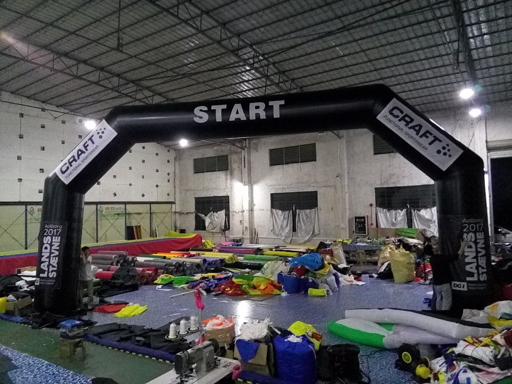 Custom Thicken Polyester  Angle Black Inflatable Sport Gantry Inflatable START line ( Link for Italy Temporary) line     - title=