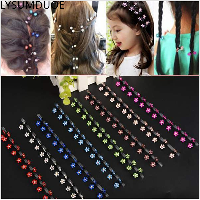 Flower Children Claw Jewelry Hair Accessories Hair Clip BB Girl Cute Crystal Shining Snowflake Floral Shape Mini Claw Accessory collected stories