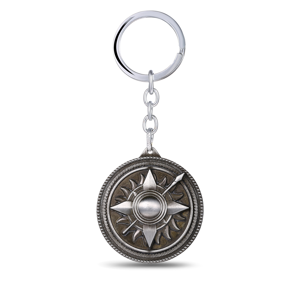 MS JEWELS Movie Items Game of Thrones Key Chain House Martell Bronze Metal Key Rings For Present Chaveiro Keychain Drop Shipping