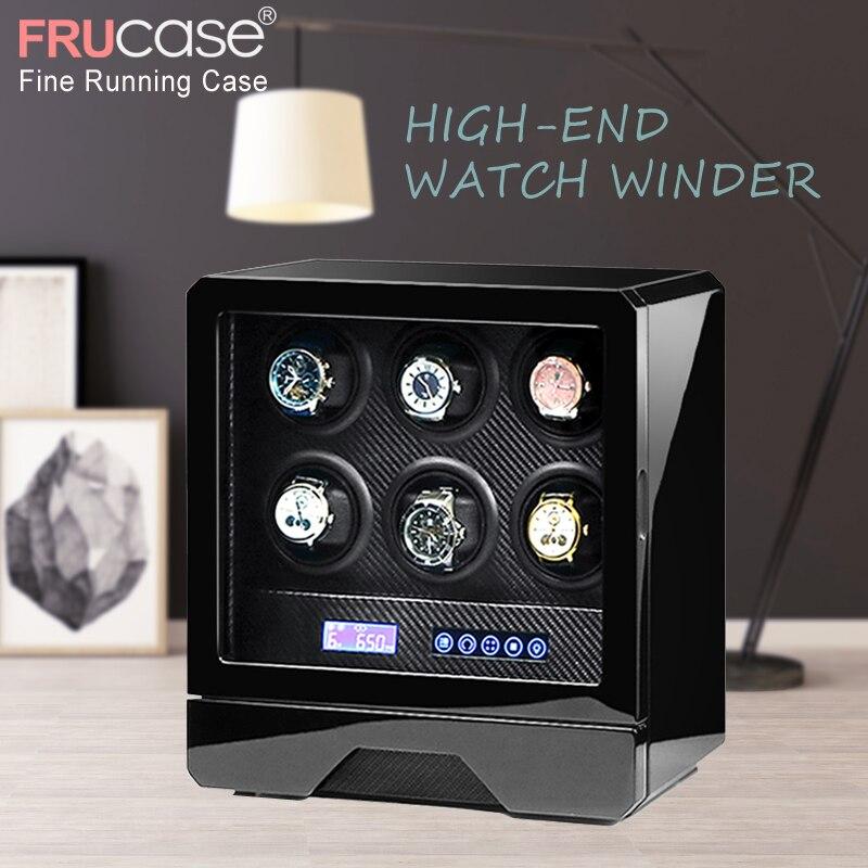 Saatler'ten Saat Kutuları'de Lüks saat zembereği otomatik izle ekran 4 saatler için 6 saat kontrol Durdurma zaman kapak açık led ışık Uzaktan Kumanda'da  Grup 1