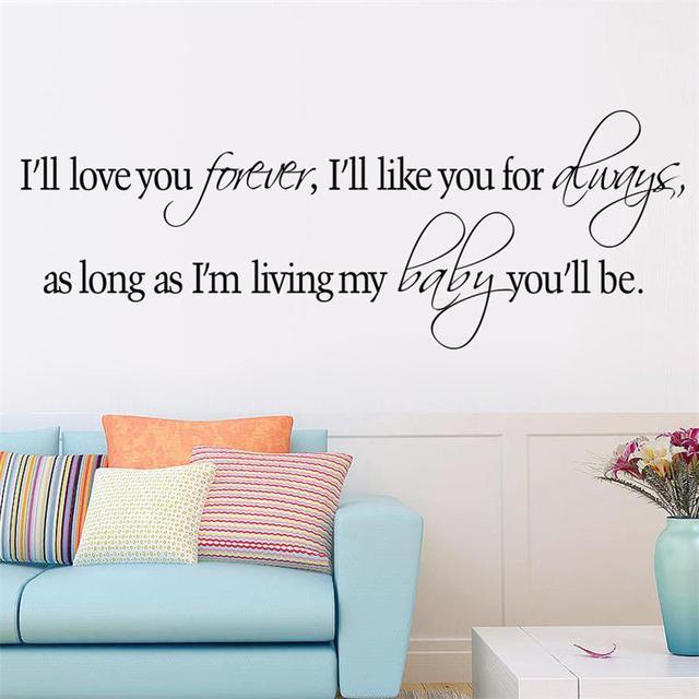 Romantische quote Liefde U voor DIY home decor sticker slaapkamer ...
