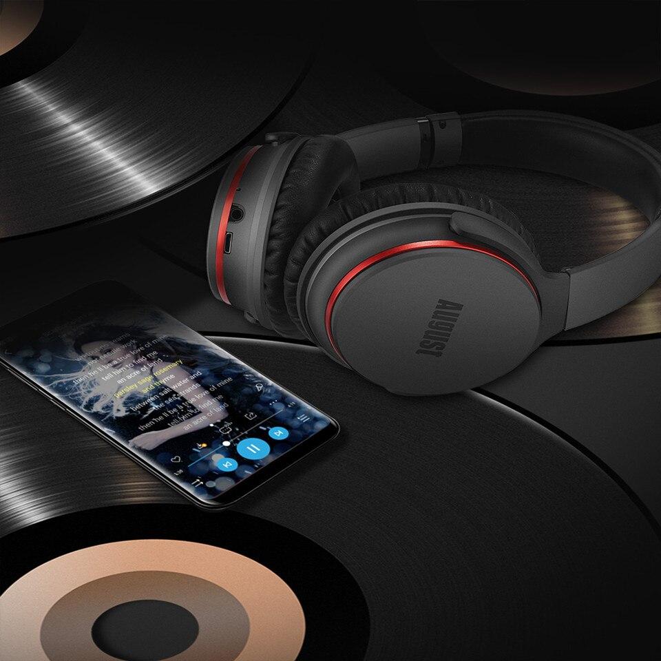 August EP735 Aktive Noise Cancelling Bluetooth Kopfhörer Drahtlose mit Mic Bluetooth 4,1 Stereo ANC Headset für Luft Reise aptX - 5