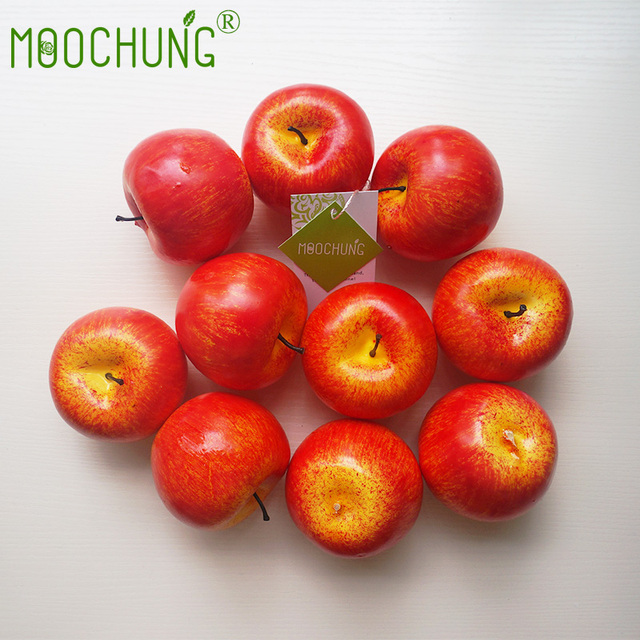 Foam Artificial Green Red Apples Kitchen Decor For Home Interior