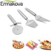 ERMAKOVA Set di 3 Pizza Cutter Ruota Pizza Server Formaggio Affettatrice Formaggio In Acciaio Inox Pizza Tool Set Tool Set