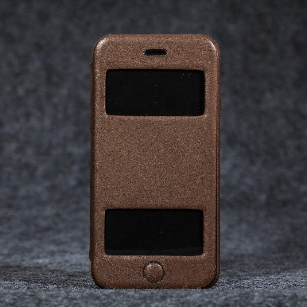 Telefon fall für Apple iphone 6/6 s Luxus Echtem leder super slim profil brieftasche fall abdeckung - 4
