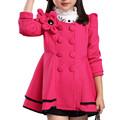 Hot Sale New Spring Autumn Fashion Baby Girls Jackets Flower Kids Outerwear Princess Dress Children's Coat 3 Color
