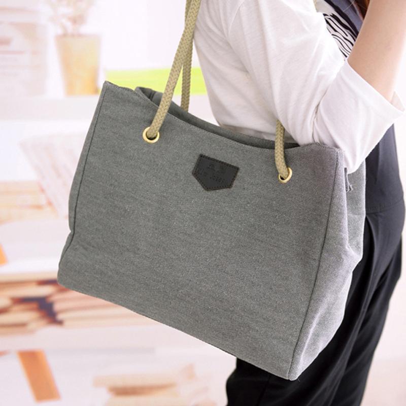100% High Quality Women's Bags Simple Larger Capacity Canvas Handbags 2017 New Fashion Women Messenger Bags bolsa feminina Sac