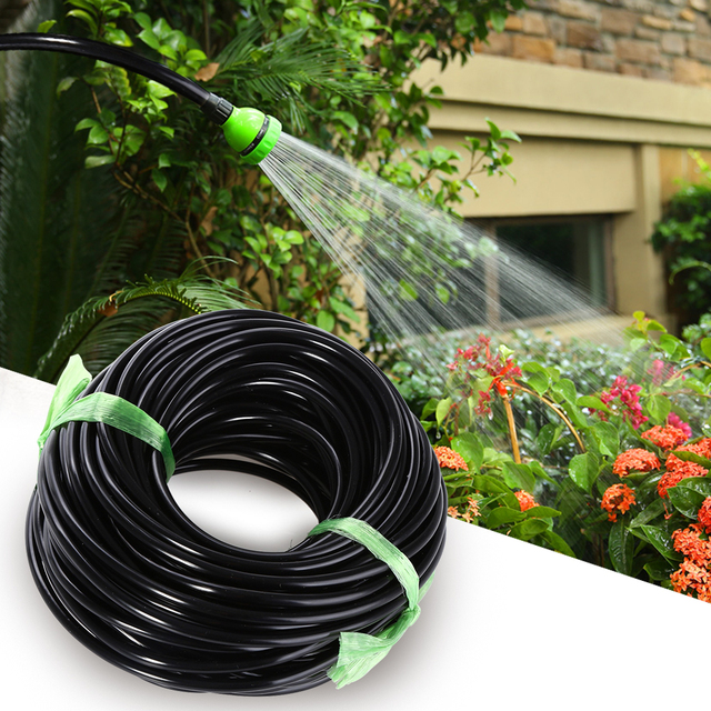 Black Micro Garden Water Hose Drip Irrigation Pipe Watering Sprinkling Home  Garden For Drip Arrow 20M