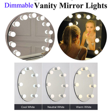 LED Vanity makeup Mirror lamp light bulbs hollywood led USB make up mirror light comestic lamp touch switch