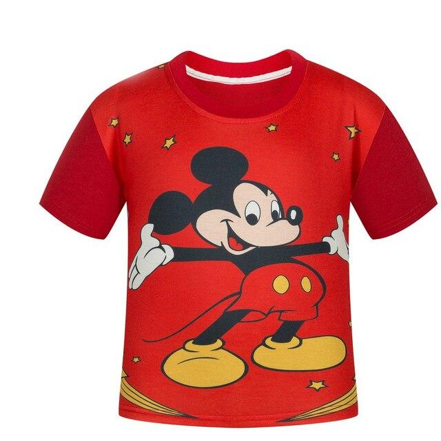 Children's T shirt large boys summer Mickey short sleeve T-shirt