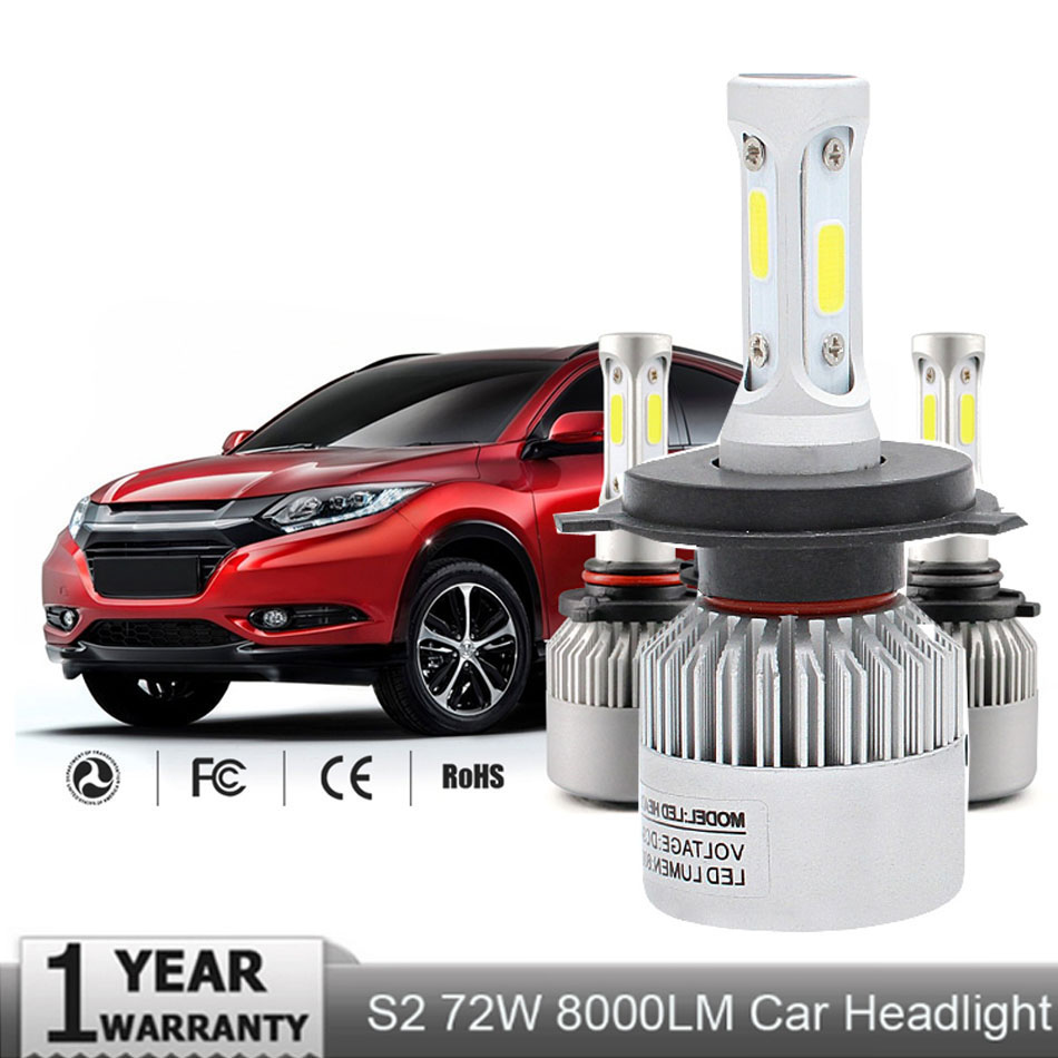 Automobiles & Motorcycles Muxall Shipping By Ems S2 H1 H3 H4 H7 H11 H13 9004 9005 9006 9007 9012 Cob Chips Led Headlight Bulbs Hi-lo Single Beam 8000lm Relieving Heat And Sunstroke Car Lights