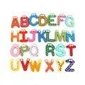 26 Alfabeto de madeira Imã de geladeira Brinquedo Desenvolvimento da Inteligência Das Crianças Dos Miúdos Etiqueta Magnética Escritório Sala de Aula Lousa Gadget
