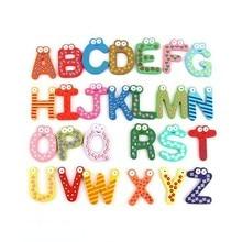 Wooden Fridge Magnet 26 Alphabet Intelligence Development Toy Kids Children Magnetic Sticker Classroom Office Whiteboard Gadget