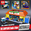 Free Shipping LEPIN 16004 The Simpsons Kwik E Mart Educational Building Blocks Set Bricks Kits Christmas
