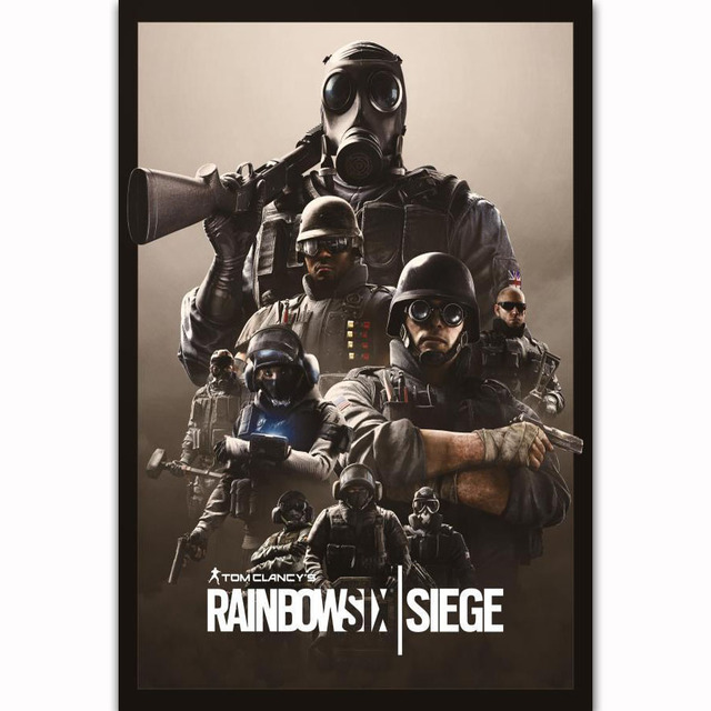 US $5 38 7% OFF FX1208 Hot Tom Clancy's Rainbow Six Siege 2018 New Video  Game Custom Poster Art Silk Light Canvas Home Room Wall Printing Decor-in
