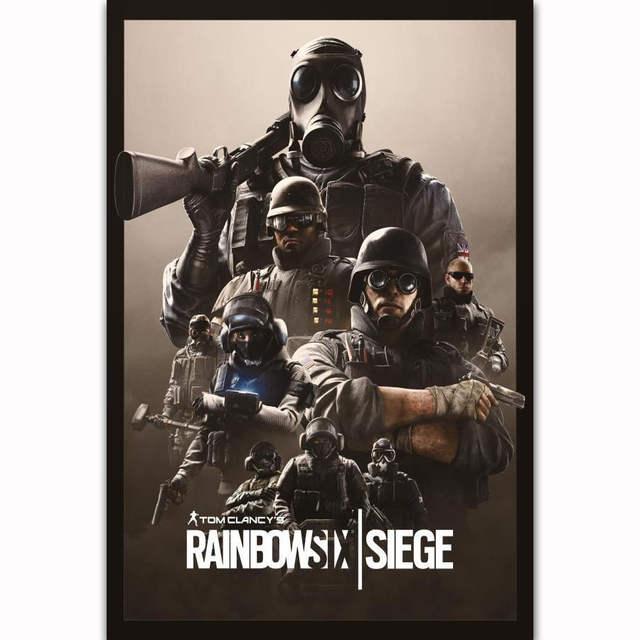 FX1208 Hot Tom Clancy's Rainbow Six Siege 2018 New Video Game Custom Poster  Art Silk Light Canvas Home Room Wall Printing Decor