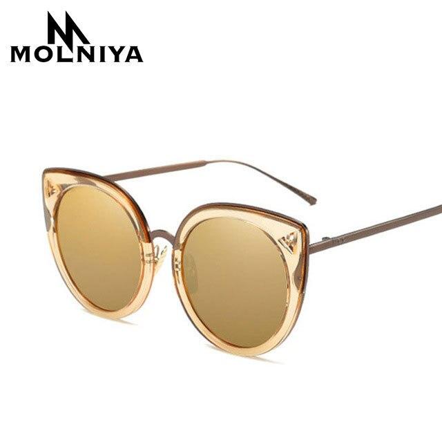 5e104d9e405 MONLIYA New Fashion Exaggeration Cat Eye Sunglasses Women Vintage Brand  Designer Metal Frame Glasses 2018 Big