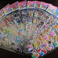 50 Hojas de Pegatinas de Dibujos Animados Los Niños de Frutas Flor Princesa Caballo Cerdo Juguetes Clásicos para Niños Niñas