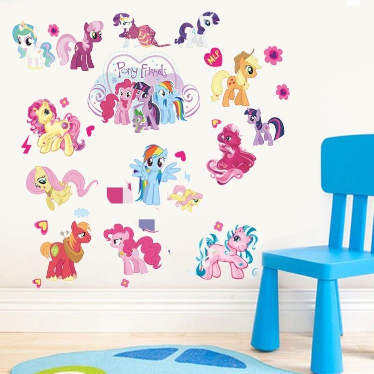 EWAYS Mon Mignon Petit Poni Wall Sticker Chambre Décoration Outil Pour Salon, maison Décorée Autocollant Faire de PVC Matériel