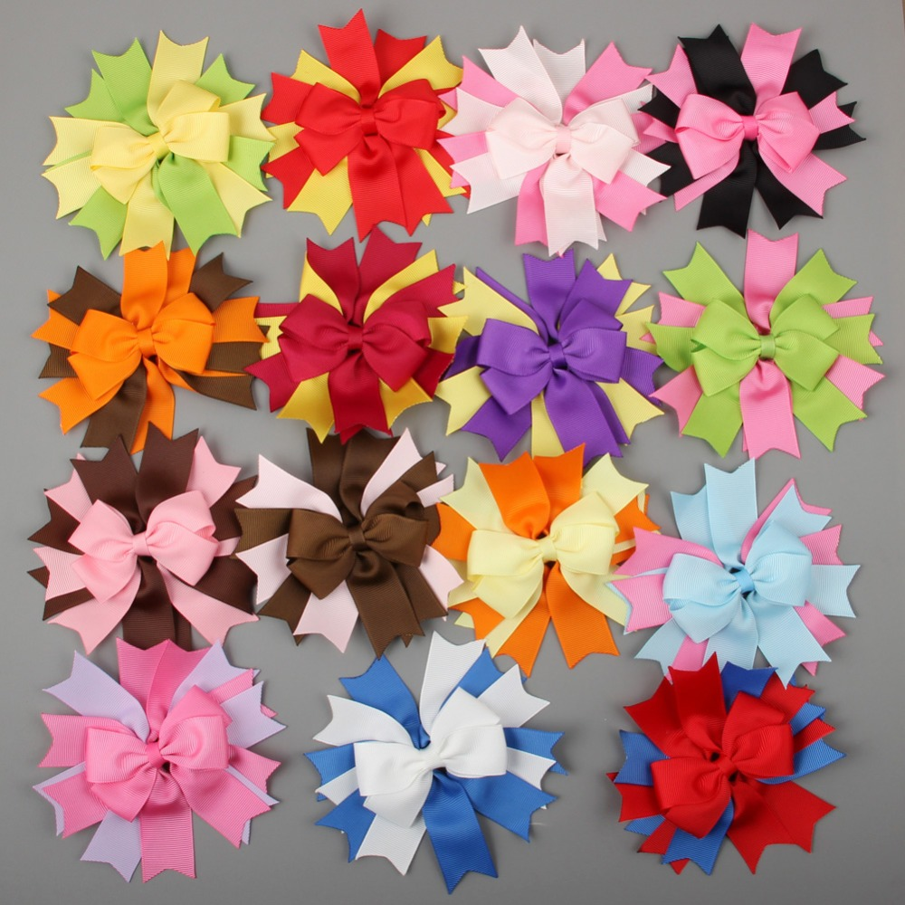 Color wheel online free - 15pcs 4 5 Free Shipping Mixed 15 Color Spike Pin Wheel Hair Bow Cute Girls Boutique