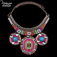 Dvacaman Marca 2016 Nuevo Maxi de Boho Étnico Collar Llamativo Mujeres Retro Chapado En Oro Collar de Gargantilla Collar de La Joyería de Accesorios F31