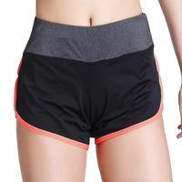 5 צבעים זמינים כושר קצר מכנסי אימון מותניים אלסטי פנאי, הפתילה שתי חתיכות False מקרית נשי מכנסי התעמלות