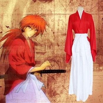 710013166 Anime Rurouni Kenshin cos HIMURA KENSHIN dibujos animados Halloween partido  Cosplay hombre mujer Cosplay traje azul japonés kimono rojo