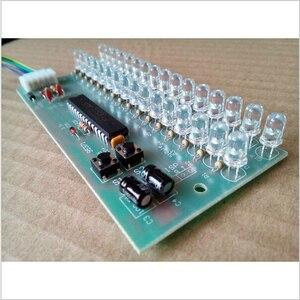 Image 4 - RGB اللون MCU قابل للتعديل عرض نمط LED VU متر مؤشر مستوى 16 LED ثنائي القناة شحن مجاني