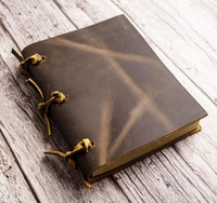vintage Blank Diaries Journals notebook note book genuine leather 0010704
